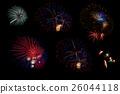 Colorful Firework on Black Background 26044118