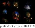 Colorful Firework on Black Background 26044119