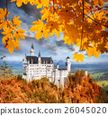 Neuschwanstein castle in autumn, Bavaria, Germany 26045020