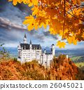 Neuschwanstein castle in autumn, Bavaria, Germany 26045021