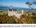 Neuschwanstein castle in autumn, Bavaria, Germany 26045029