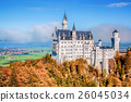 Neuschwanstein castle in autumn, Bavaria, Germany 26045034