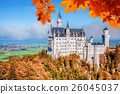Neuschwanstein castle in autumn, Bavaria, Germany 26045037