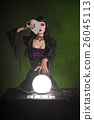 Fortune teller with playing cards and crystal ball 26045113