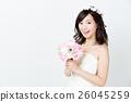 웨딩 흰색 배경 이미지 26045259