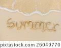 beach sand sea 26049770