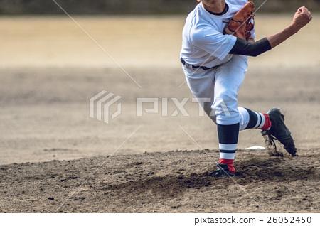 High school baseball game landscape 26052450