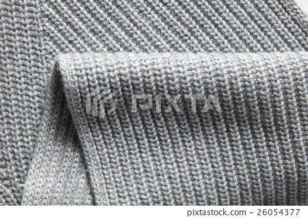 Closeup macro texture of knitted cotton waffle 26054377