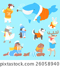 Arctic Animals Dressed In Human Clothes Set Of 26058940