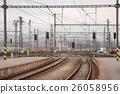 Railroad tracks with train 26058956