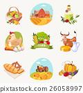 animal cow bird 26058997