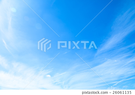 10 월의 하늘 구름 筋雲 적운 권운 푸른 하늘 가을 하늘 늦여름 하늘 배경 용 소재 구름 푸른 하늘 합성 용 배경 26061135