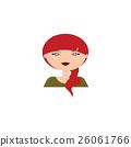 Cute woman face 26061766