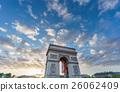 Arc de Triomphe at sunset 26062409