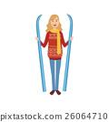 woman, ski, skiing 26064710
