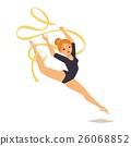 Gymnast girl vector illustration 26068852