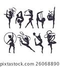 Gymnast girl vector illustration 26068890