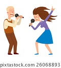 Singing people vector character 26068893