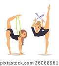 Gymnast girl vector illustration 26068961