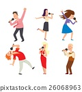 vector, people, microphone 26068963