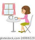 咖啡館女性 26069220