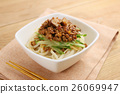 Udon noodle with minced beef and vegetables 26069947