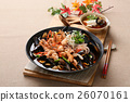 Cool and spicy seafood soup taste with octopus 26070161