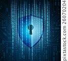 security, shield, binary 26070204