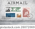 Airmail Mail Postcard Letter Stamp Concept 26072069