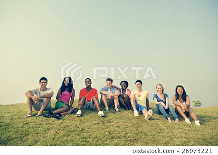 Friends Hanging Out Together Concept 26073221