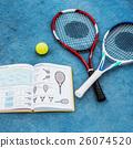 Racket Tennis Ball Book Guidelline Sport Concept 26074520