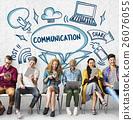 Connection Communication Ideas Outside Box Sketch Concept 26076055