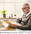 Reading Relaxation Pension Grandfather Coffee Concept 26077410