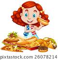 American girl and American food 26078214