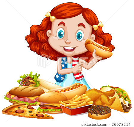 American girl and American food 26078214