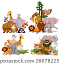 Group of different types of animals 26078225