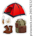 Camping set with tent and other objects 26078232