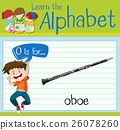 Flashcard letter O is for oboe 26078260