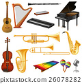 Different types of musical instruments 26078282
