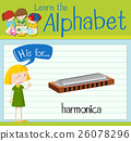 Flashcard alphabet H is for harmonica 26078296