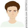 Man with skin problem 26078431