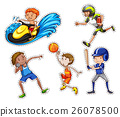 Sticker set with people doing sport 26078500
