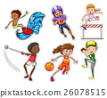 People doing different types of sports 26078515