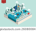 isometric concept design of hong kong city 26080084