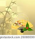 Japanese Pattern Bamboo Plum New Year 26080090