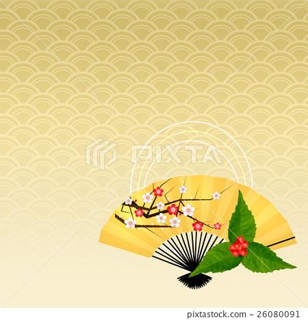 Japanese Pattern New Year Japanese Style Japanese Style Background Japanese Pattern Background Fan 26080091