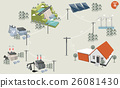 graphic design concept of electricity distribution 26081430