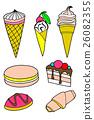 Pastries cakes and ice cream icon set 26082355