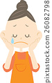 sad, sorrowful, cry 26082798
