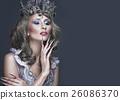 Beautiful girl in image of Snow Queen, creative 26086370